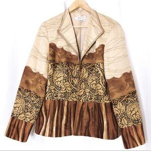 Coldwater Creek Woman's Open Front Blazer Size 14